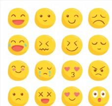 可爱圆脸表情
