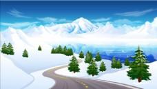 雪山公路背景