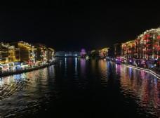 舞阳河两岸夜景风光