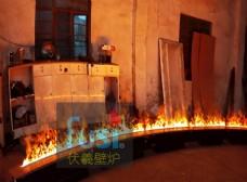 大堂圆弧形伏羲3d雾化壁炉篝火