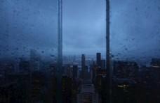 城市夜景 雨夜