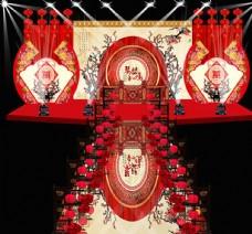 中国风舞美中式婚礼设计效果图