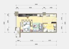 住宅彩色平面户型图