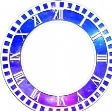 星空婚礼时间欧式单图层素材