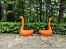 动物雕塑景观座椅