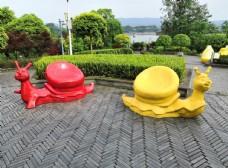 蜗牛创意雕塑公园座椅