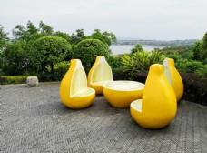 创意柠檬景观座椅