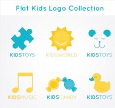 扁平化婴儿产品标志