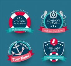 创意航海商务徽章