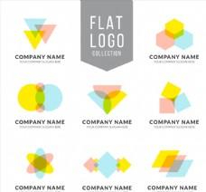 彩色扁平化商务标志