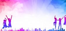 紫蓝色背景