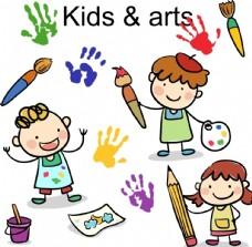 3款卡通绘画儿童矢
