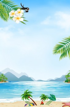 夏季海报背景