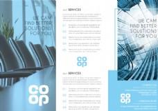 欧美商务宣传三折页手册