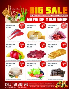 超市促销宣传单PSD素材