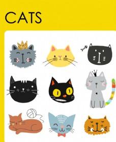 可爱猫咪卡通形象
