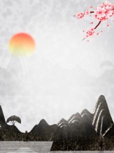 中国风背景水墨