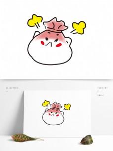 矢量卡通包子表情图案