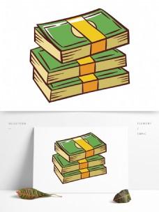 简约手绘卡通钞票模板