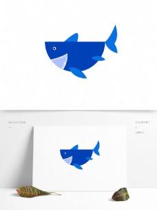 鯊魚可爱插画素材