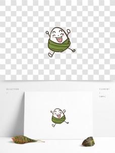 简笔画可爱的粽子卡通设计