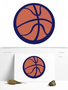 简约手绘卡通篮球模板