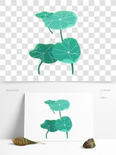 绿色清新荷叶元素设计