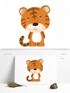 手绘可爱动物老虎