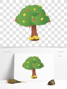 绿色棕色植物树干