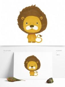 手绘可爱动物狮子