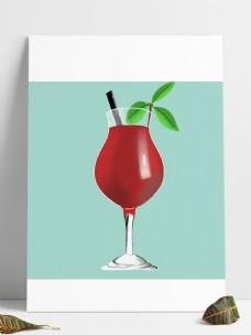 夏日清凉玻璃杯装饮料