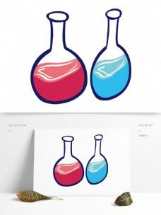 简约卡通手绘酒瓶模板