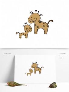 矢量卡通动物装饰图案