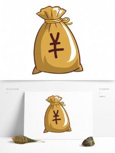 简约卡通手绘钱袋模板