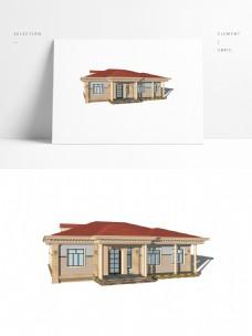 单层欧式小别墅模型