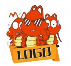 卡通矢量虾