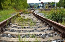 铁路图片铁轨自然风景素材
