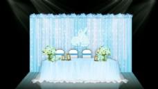 冰蓝色婚礼签到区