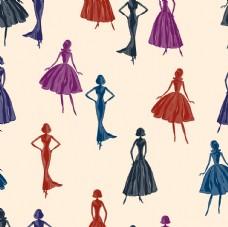 穿裙子的优雅女生女人