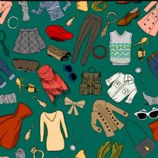 时尚服饰无缝背景