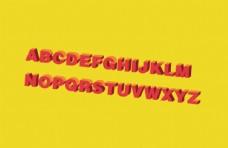 3D立体矢量26个英文字母