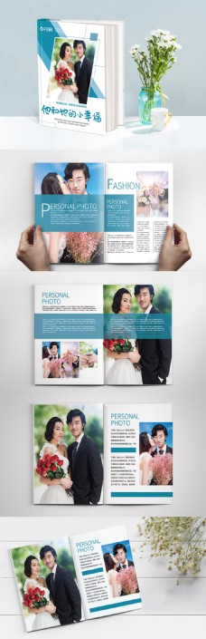 创意简约时尚婚纱摄影相册整套宣传画册