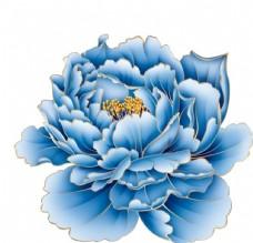 牡丹花青花