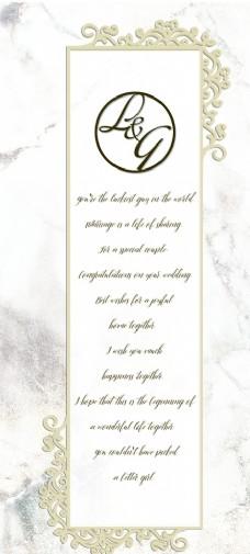 白色大理石婚礼背景