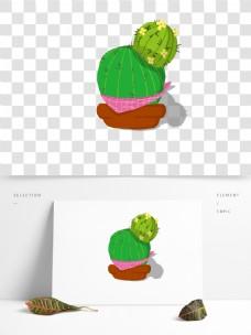 绿色的仙人掌手绘可商用