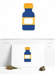 罐子药瓶矢量元素