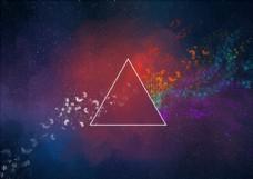 彩色三角几何背景