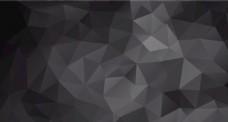 低多边形黑色质感几何背景