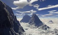 大自然风光图片素材蓝天白云