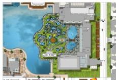 泳池花园彩平图